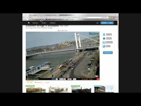 Budapest Live webcam Elisabeth bridge