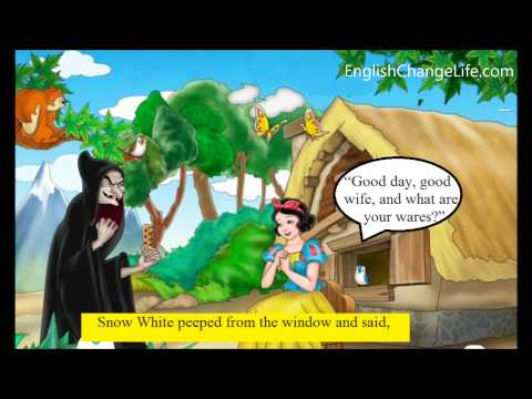 Learn English through story  Snow White and the seven Dwarfs lever 1