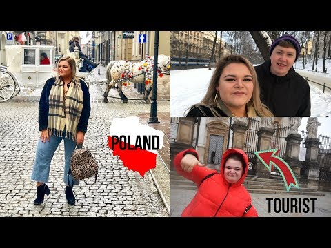 Being your typical tourists in Poland...