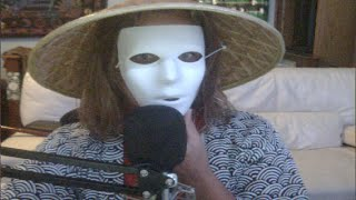 facecam trying to draw a mask from spirited away