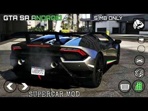 New Super Car MOD | Lamborghini Huracan Perfomante Spyder 2019 GTA SA ANDROID