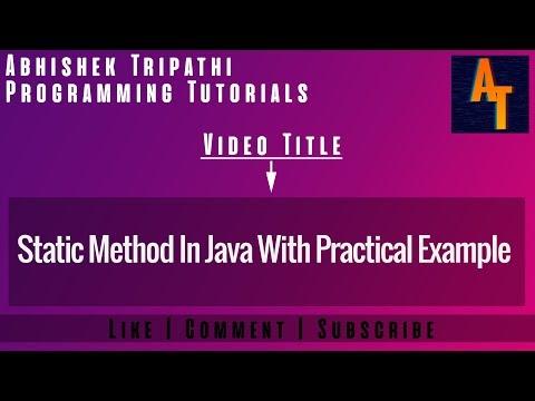 static-method-in-java-part-16-#-java-tutorials-#-static-method-in-java-with-example