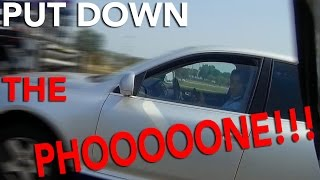 SUV Driver On Cellphone | Highway Confrontation!