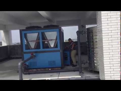 2 units of 50HP air cooled chiller for Sinopec Group