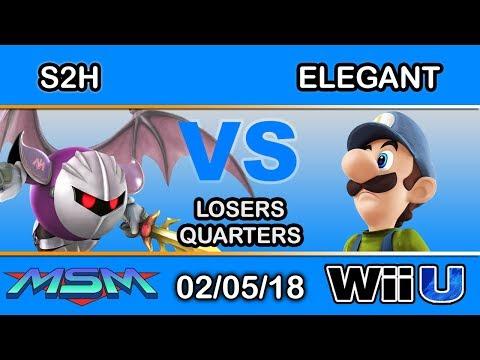 MSM 132 - S2H (Meta Knight) Vs. BSD | Elegant (Elegant) Losers Quarters - Smash 4