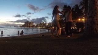 Kyle and Monika Dancing Bachata in Waikiki