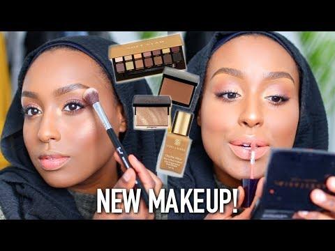 TESTING NEW MAKEUP! | ABH Soft Glam & Bronzer, Double Wear Foundation + | Aysha Abdul
