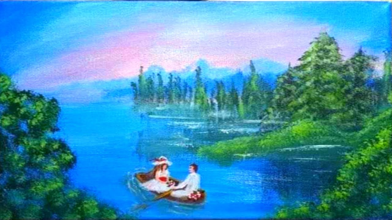 Download Following Mr. Bob Ross painting tutorial / valentine special / easy acrylic painting / day 4