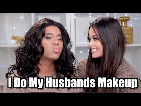 I DO MY HUSBANDS MAKEUP!
