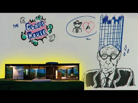 DRAW MY LIFE -- PHILIP JOHNSON / LA CASA DE CRISTAL / THE GLASS HOUSE
