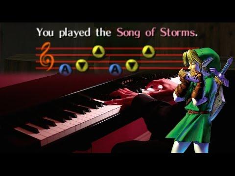 The Legend of Zelda - Song of Storms - Jazz Piano