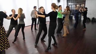 Занятия по вальсу, техника шагов, Наталья Поддубная