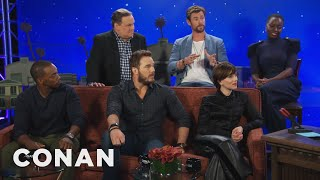 "How The ""Avengers"" Cast Would Catch Up Someone Who's Been In A Coma  - CONAN on TBS"