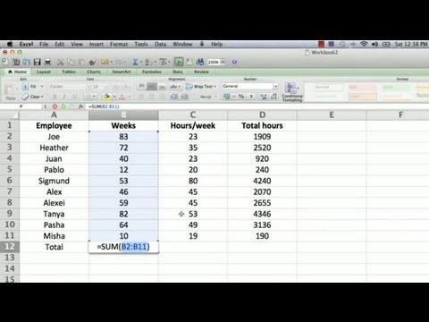 How to Make a Totaling Column Formula in Excel  Using Microsoft