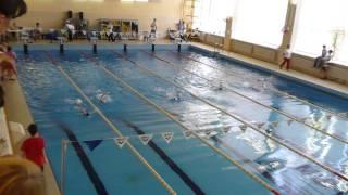 Иван Нефедов. Соревнования 19 мая 2013 (плавание, спина 50м)