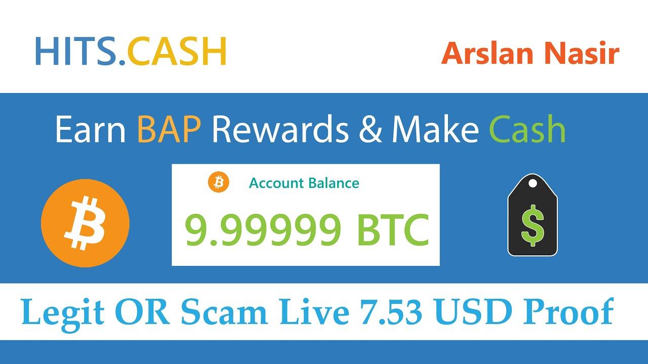 Hits.cash Earn Bap Rewards & Make Money Legit OR Scam 7.53 Usd ...