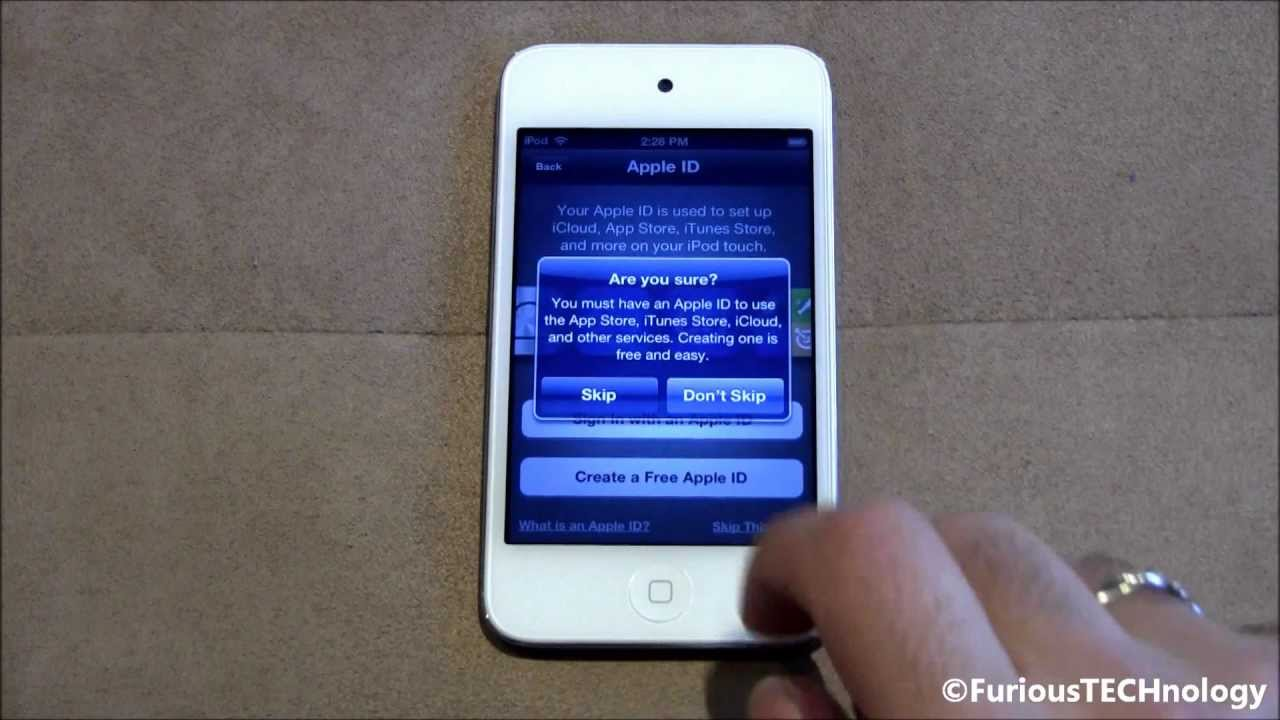 How to wipe an ipod touch without itunes