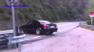 BMW M5 E60 drift fail + crash Arrabassada