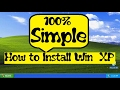 Windows XP Home Edition - Installation from CD/DVD - YouTube
