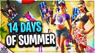 *NEW* 14 DAYS OF SUMMER EVENT CHALLENGES BEACH BOMBER SKIN UPDATE ITEM SHOP (Fortnite Battle Royale)