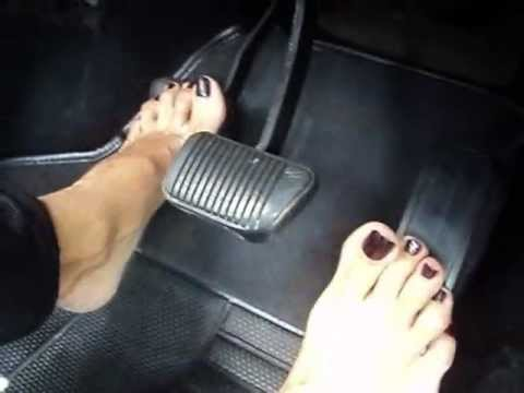 Pedal PUMPING, DRIVING IN HIGH HEELS - YouTube
