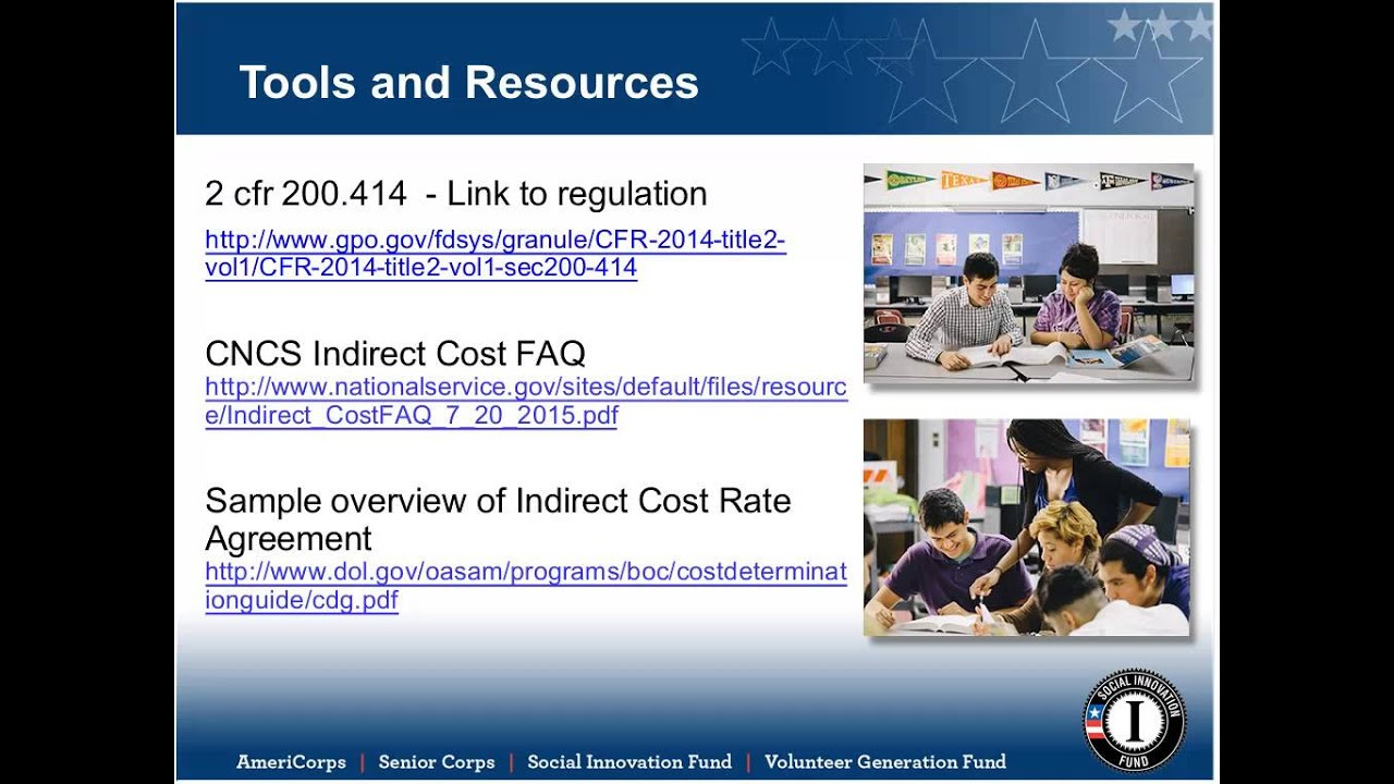Overview Of De Minimis Indirect Costs Youtube