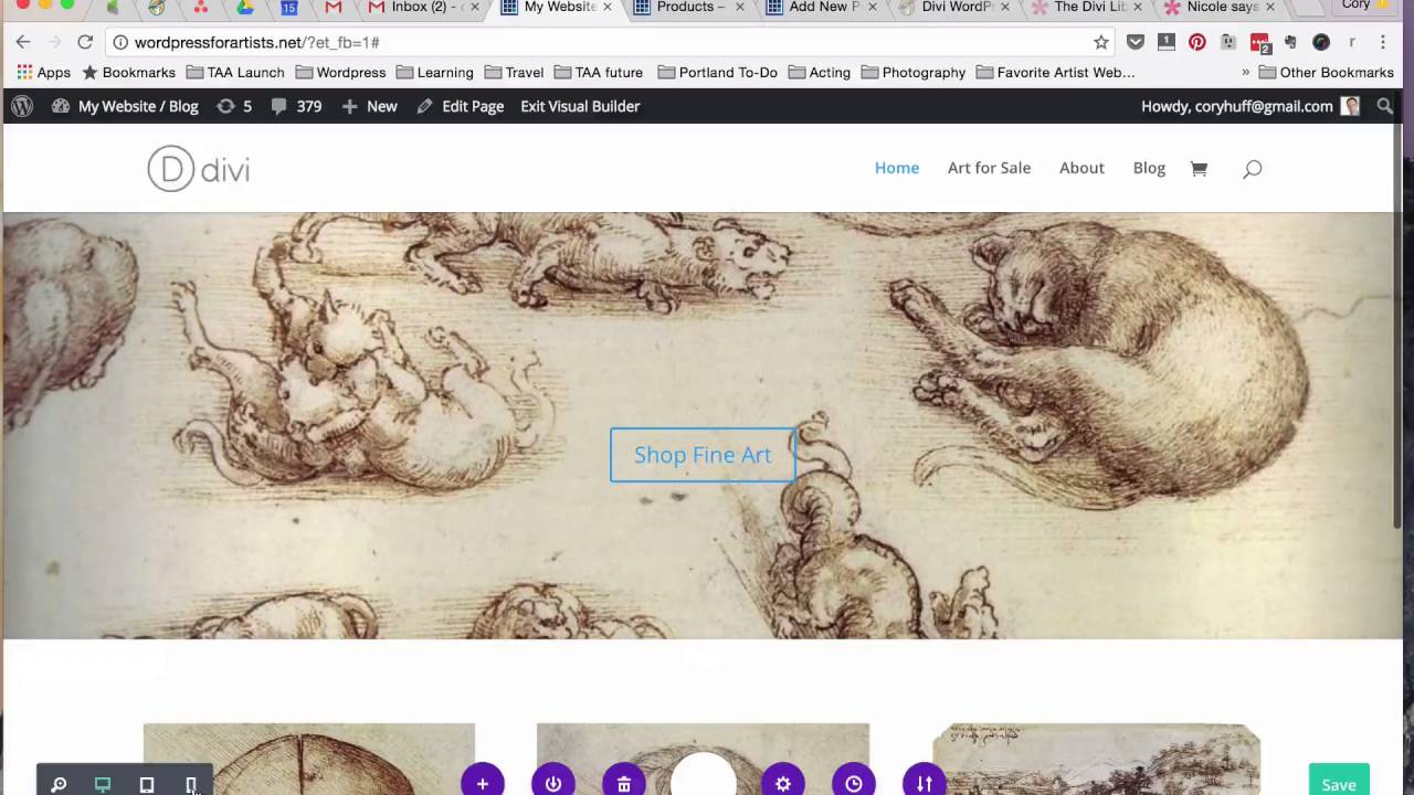 Divi 3 0 Review Websites For Artists Youtube