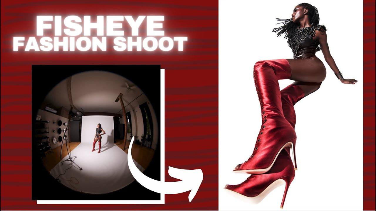 Creating a bold fashion image using a fisheye lens! 😲