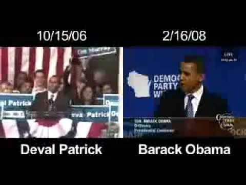 Barack Hussein Obama PLAGIARISM (Deval Patrick speech)