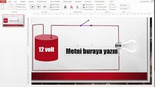 Senaryo 6 PowerPoint 2013 ile Seri Devre