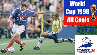 World Cup 1998 in France. All Goals HD.