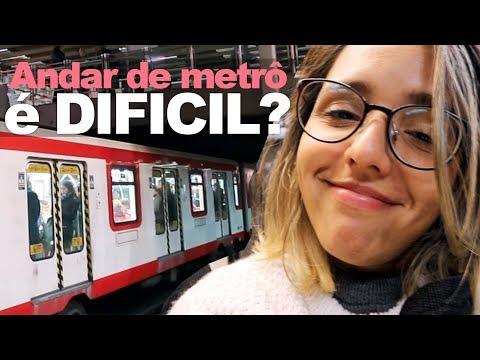 COMO É ANDAR DE METRÔ EM SANTIAGO NO CHILE? | Prefiro Viajar