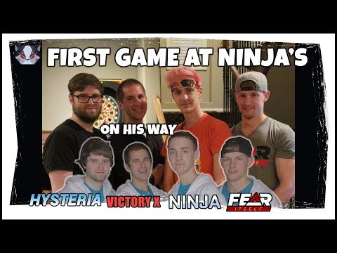 Hysteria | Fortnite Battle Royale - First Game at Ninja's House - In Person C9 Reunion!