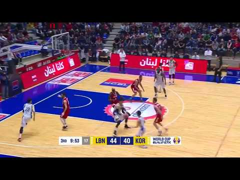 Lebanon vs South Korea   Highlights   FIBA Basketball World Cup 2019   Asian Qualifiers