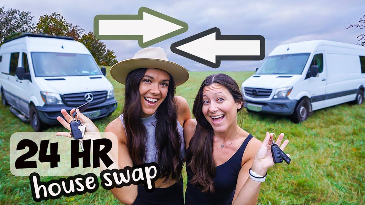 Download 24 Hour Tiny House Swap with Kara & Nate (van life comparison)