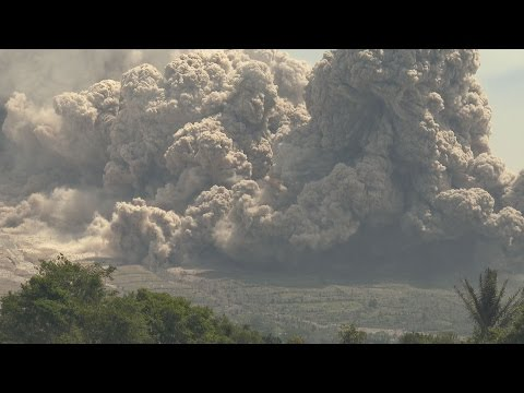 Pyroclastic Flows Eruptions At Sinabung Volcano Indonesia 19th June 2015