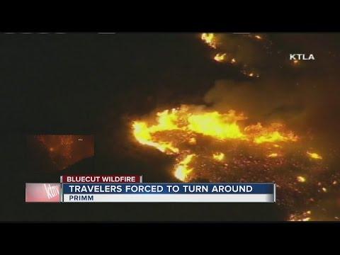 UPDATE: Calif. fire keeps growing near highway to Vegas