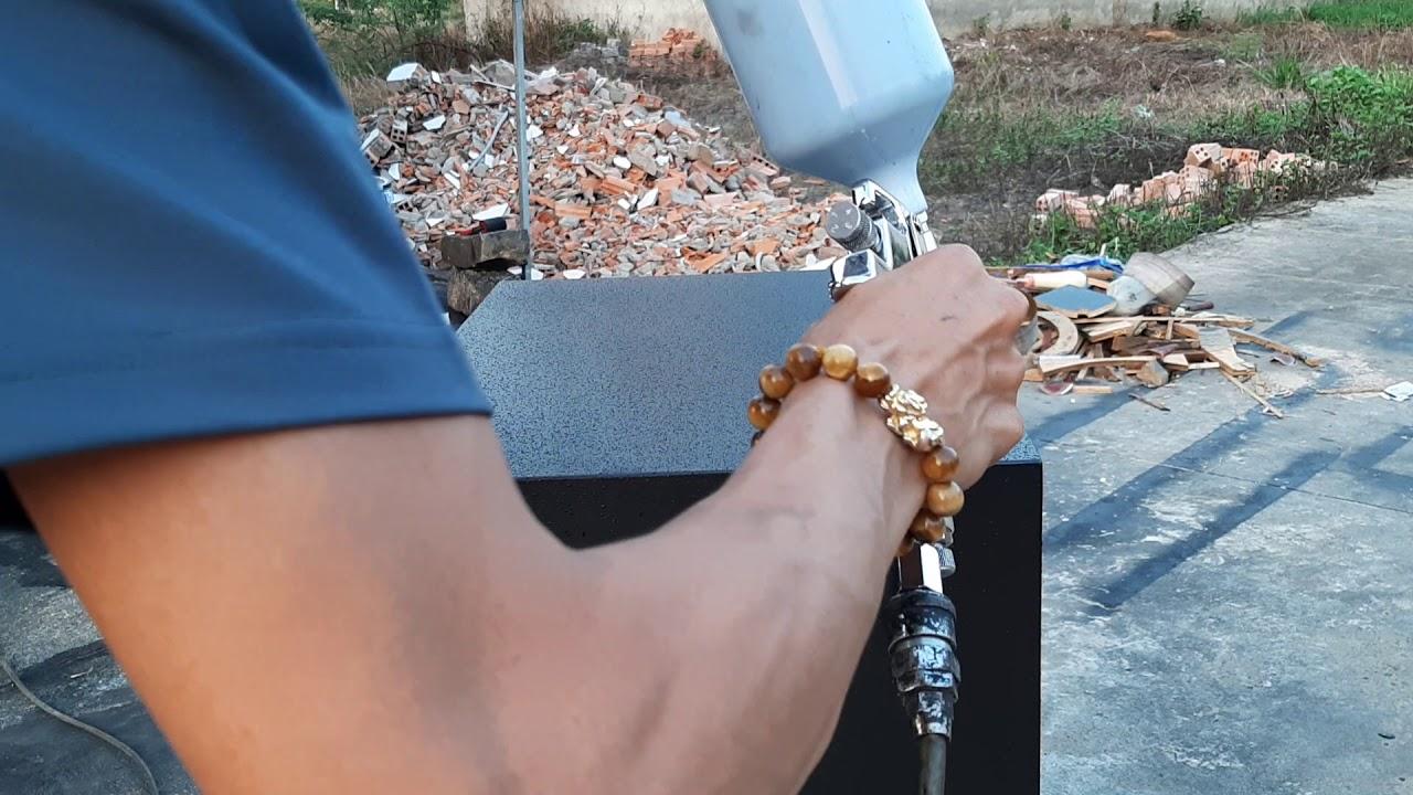 Test Em Súng Phun Sơn Sần Thần Thánh,Cung Cấp Sơn Sần Hệ Nước Không Cần Dùng Súng Phun Sơn