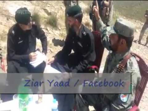 Afghan border forces commander Abdul basir with dalastan malasha forces