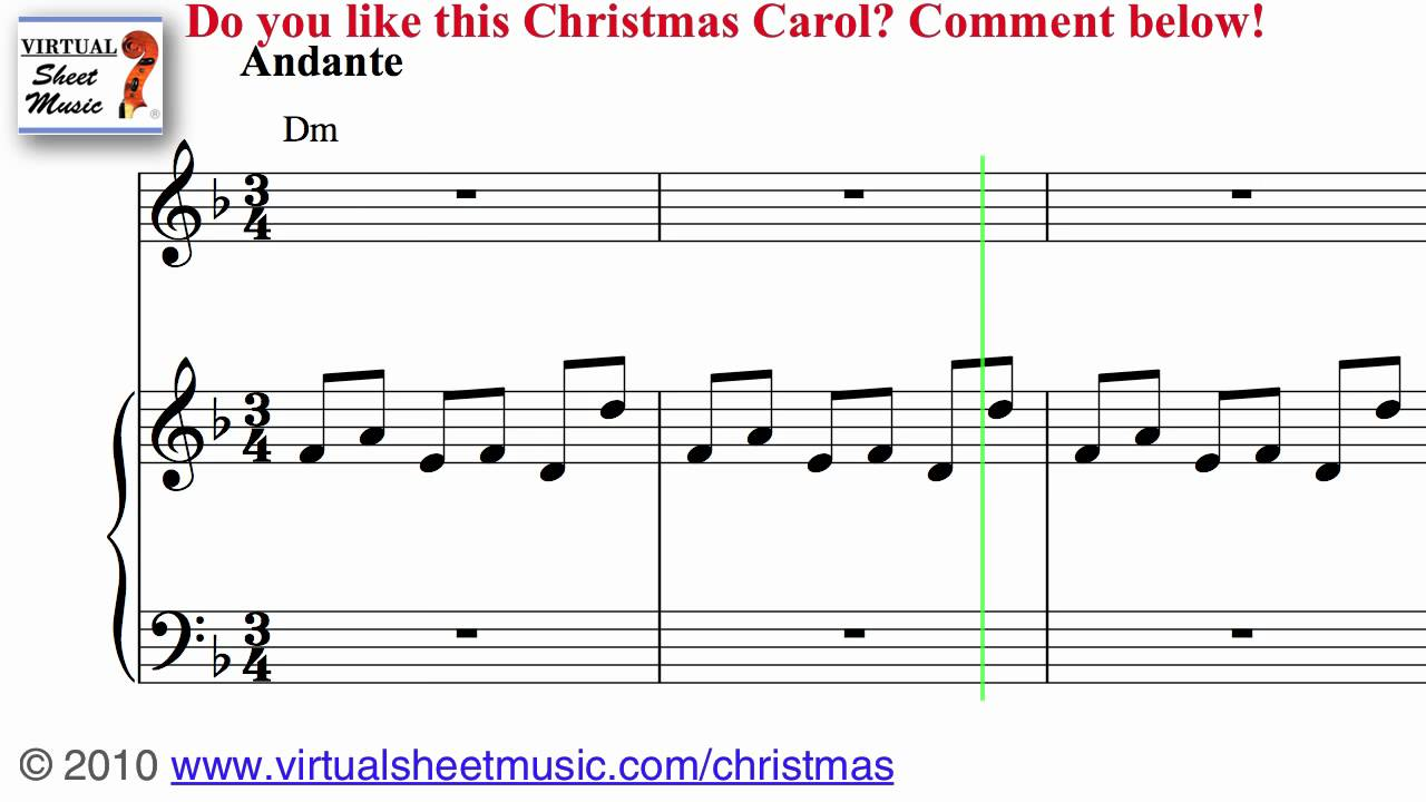 carol of the bells christmas song piano
