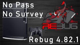 PS3 Jailbreak 4.82 Rebug - Download and install With Password No Survey