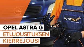 Kuinka korvata Pyöränlaakerisarja OPEL ASTRA G Hatchback (F48_, F08_) - opetusvideo