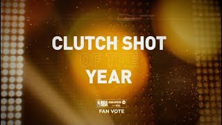 2018 NBA Awards - Clutch Shot of the Year Nominees