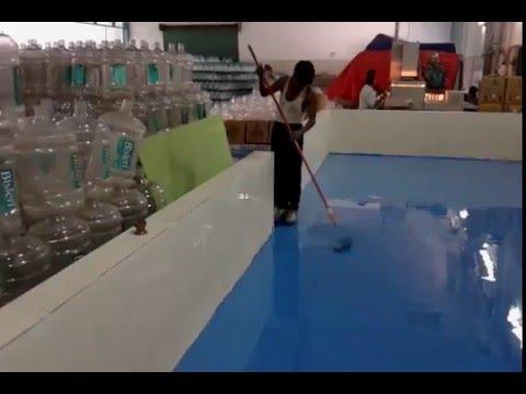 Epoxy Flooring at Water Bottling Plant in Delhi