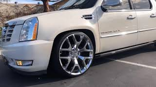 Cadillac Escalade ESV Belltech lowering kit lowered slammed 26 inch rims