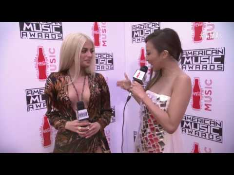 Bebe Rexha And G-Eazy Interview at AMAs 2016 EXCLUSIVE