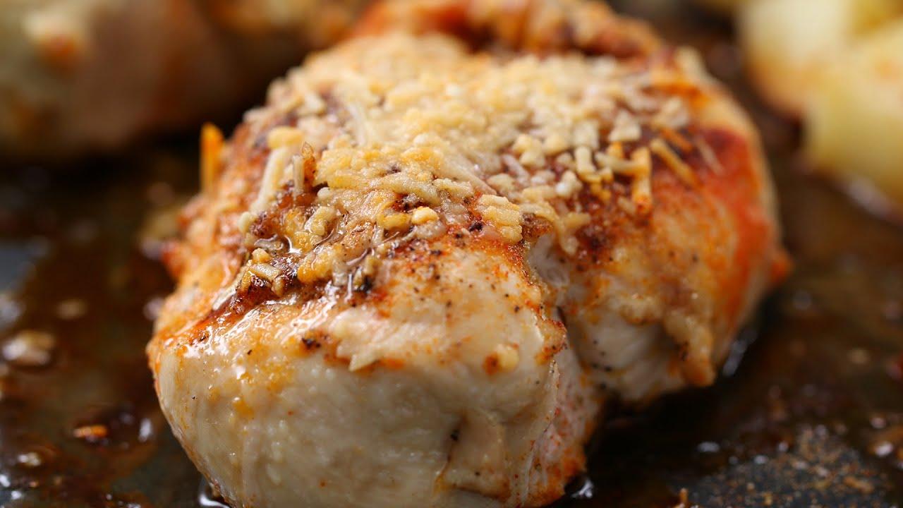 One-Pan Garlic Parmesan Chicken And VegetablesTasty Videos