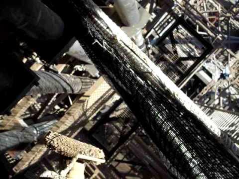 rope access painter on tour eiffel
