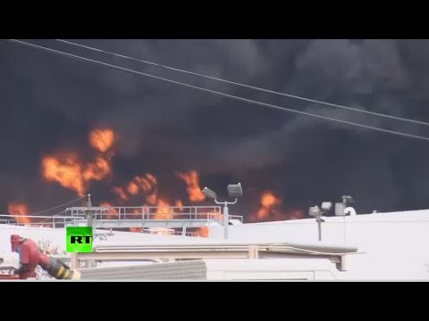 RT: Petrochemicals plant near Houston is on fire for two days straight