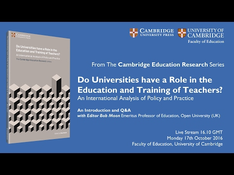 Do Universities have a Role in the Education and Training of Teachers   Live Book Launch